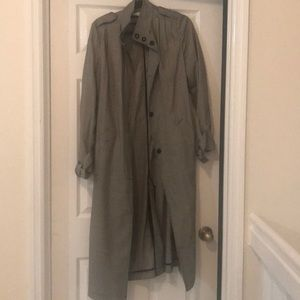 H&M Black/houndstooth trench coat